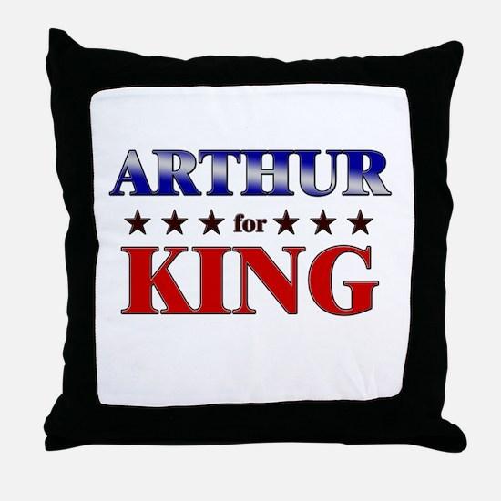 ARTHUR for king Throw Pillow