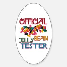 Jelly Bean Tester Oval Decal