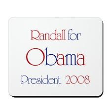 Randall for Obama 2008 Mousepad