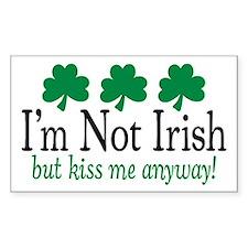 I'm Not Irish Rectangle Decal