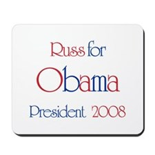 Russ for Obama 2008 Mousepad