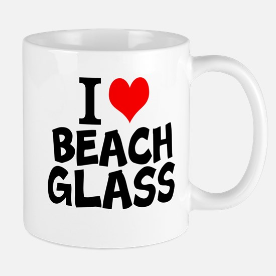 I Love Beach Glass Mugs