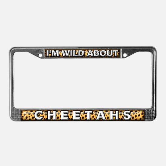 Fur Pattern Cheetah License Plate Frame