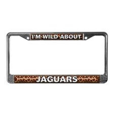 Fur Pattern Jaguar License Plate Frame