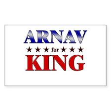 ARNAV for king Rectangle Decal