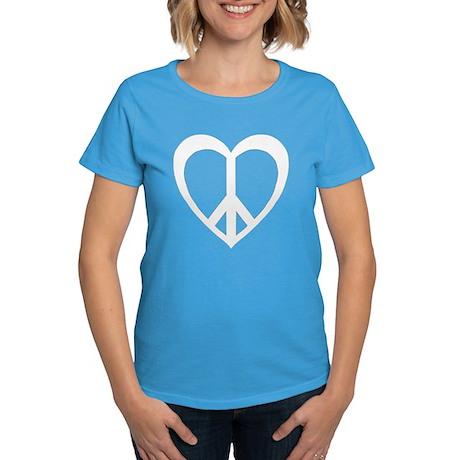Peace Heart Women's Dark T-Shirt