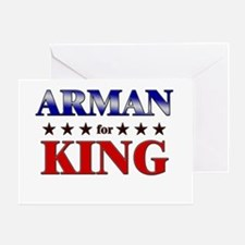 ARMAN for king Greeting Card