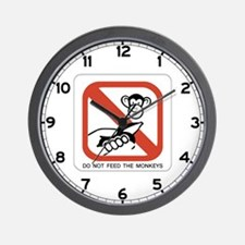 Do Not Feed The Monkey, Singapore Wall Clock