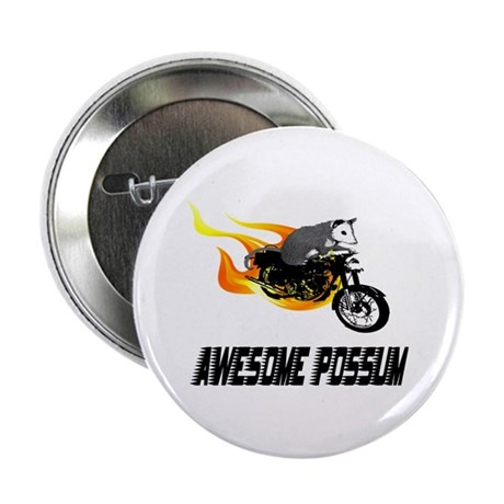 """Flaming Awesome Possum 2.25"""" Button (10 pack)"""