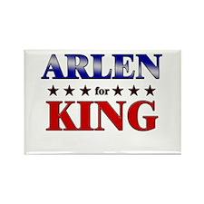 ARLEN for king Rectangle Magnet