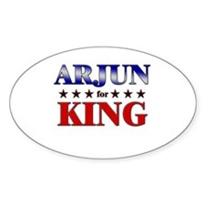 ARJUN for king Oval Decal