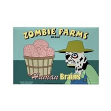 Zombie Farms Fruit Crate Label Rectangle Magnet