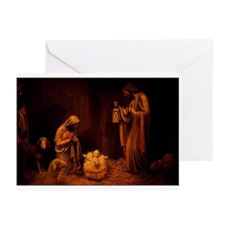 Nativity / Christ In Manger Greeting Card