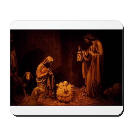 Nativity / Christ In Manger Mousepad