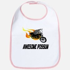 Flaming Awesome Possum Bib