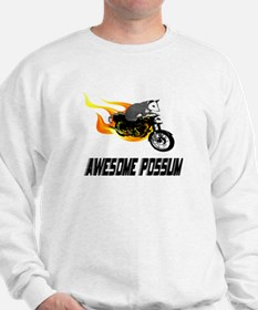 Flaming Awesome Possum Sweatshirt