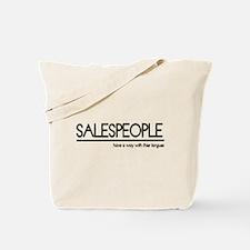 Salesperson Joke Tote Bag