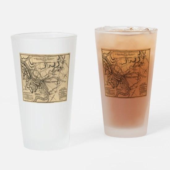 George Washington Trenton NJ Battle Drinking Glass