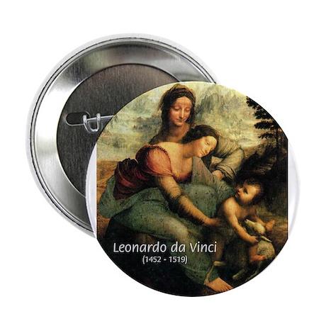 "Leonardo da Vinci Painting 2.25"" Button (100 pack)"
