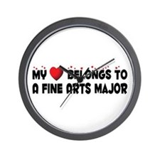 Belongs To A Fine Arts Major Wall Clock