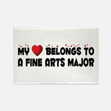 Belongs To A Fine Arts Major Rectangle Magnet