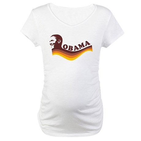 Barack Obama (brown retro) Maternity T-Shirt