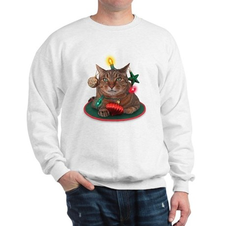 Catmas Tree Christmas Sweatshirt