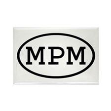 MPM Oval Rectangle Magnet (100 pack)