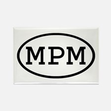 MPM Oval Rectangle Magnet (10 pack)