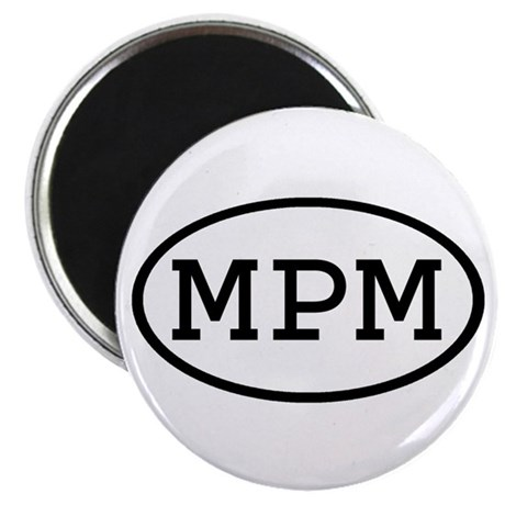 """MPM Oval 2.25"""" Magnet (10 pack)"""