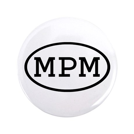 "MPM Oval 3.5"" Button (100 pack)"