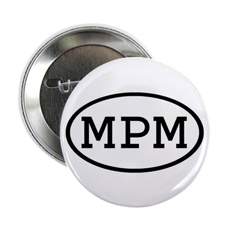 "MPM Oval 2.25"" Button (10 pack)"