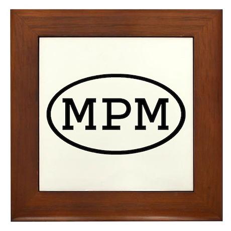 MPM Oval Framed Tile