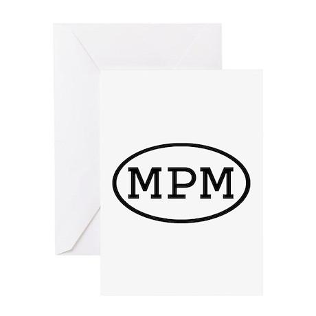 MPM Oval Greeting Card