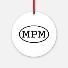 MPM Oval Ornament (Round)