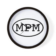 MPM Oval Wall Clock