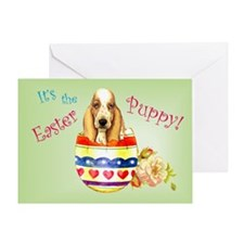 Easter Basset Greeting Card