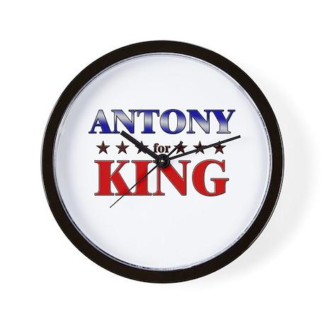 ANTONY for king Wall Clock