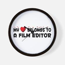 Belongs To A Film Editor Wall Clock
