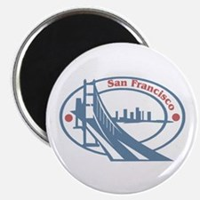 Retro San Francisco Magnet