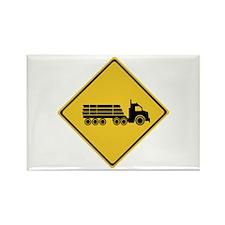 Logging Truck Warning, Australia Rectangle Magnet