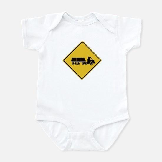 Logging Truck Warning, Australia Infant Bodysuit