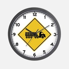 Logging Truck Warning, Australia Wall Clock