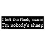 I left the flock bumper sticker