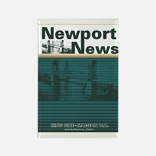 Newport News 2 Rectangle Magnet