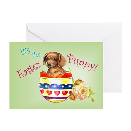 Easter Dachshund Greeting Cards (Pk of 10)