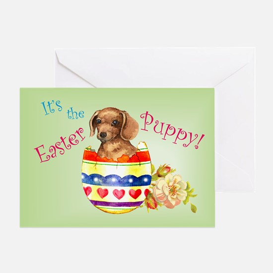 Easter Dachshund Greeting Card