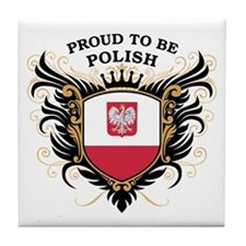 Proud to be Polish Tile Coaster