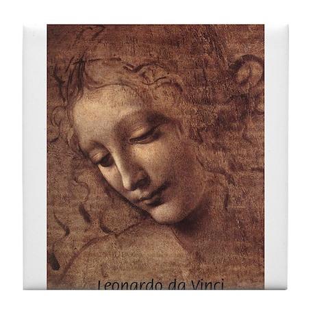 Leonardo da Vinci Drawing Tile Coaster