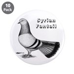 """Syrian Fantail Pigeon 3.5"""" Button (10 pack)"""